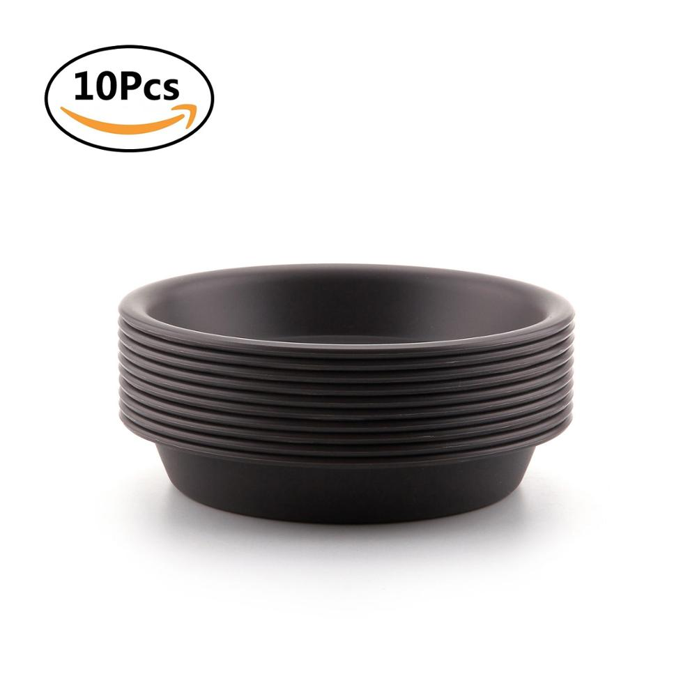 T4U 5 Inch Plastic Round Succulent Plants Pot Saucer Bonsai Trays For Holding Water Drips And Soil Garden Decoration