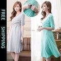 Беременных платья грудное вскармливание уход кросс way стиль беременных вечерние платья 2015 лето новое поступление
