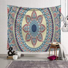 Indian Mandala Tapestry Wall Hanging Bohemian Printed Polyester Macrame Tapestry Beach Towel Polyester Thin Blanket Yoga Mat цена