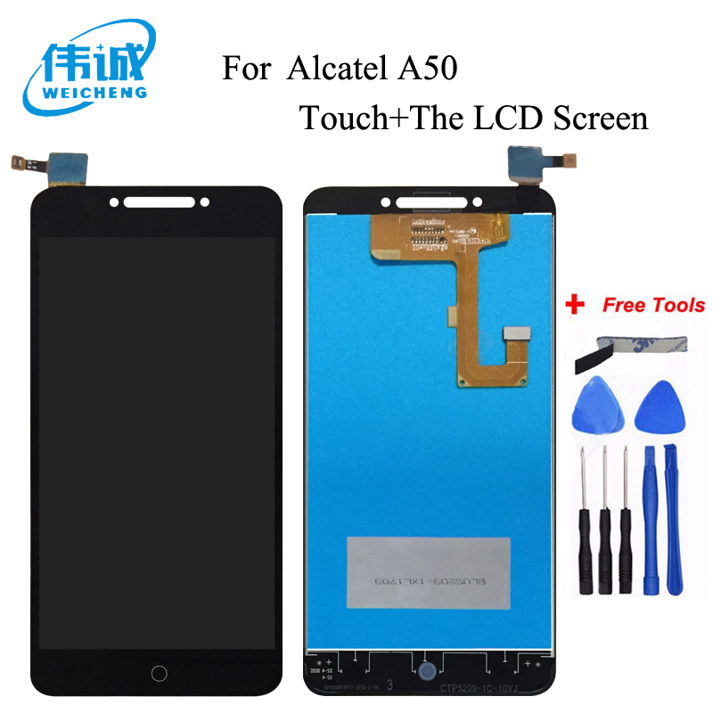 WEICHENG For Alcatel A50 LCD Display And Touch Screen Assembly Repair Part 5.2 Inch Mobile Phone Accessories