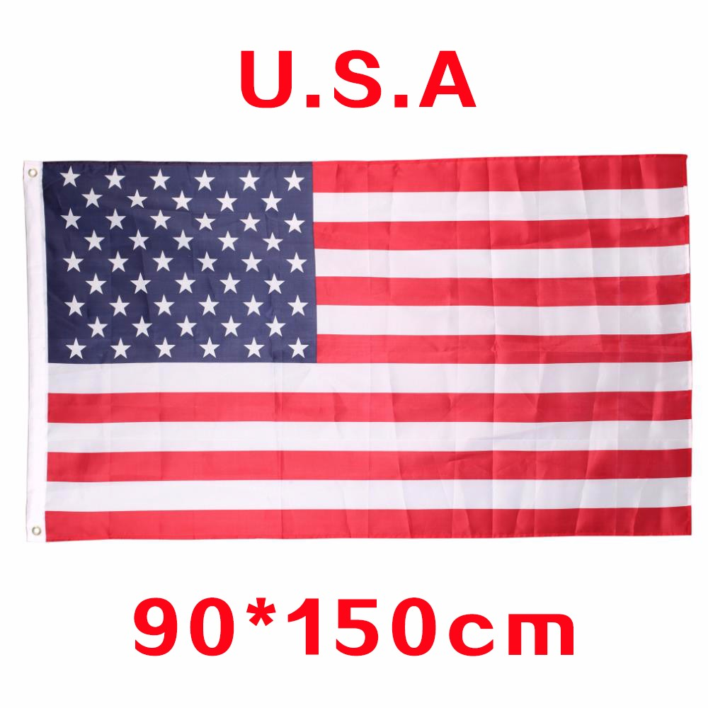 ANGRLY United Stated flag 3'x5' FT USA Flag150x90cm Polyester OR2'x3' FT OR small usa flags Be Proud Show off Your Patriotism