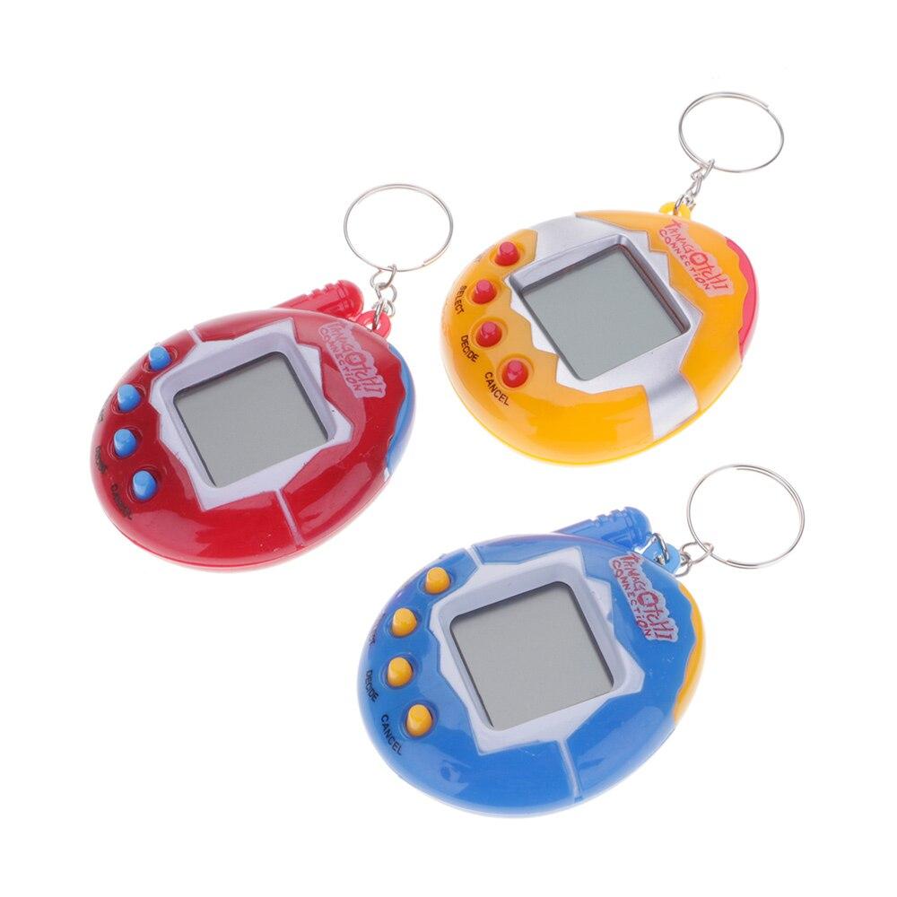 Cartoon Virtual Electronic Pets Mini Hand-hold Game Machine Digital Gifts Toy