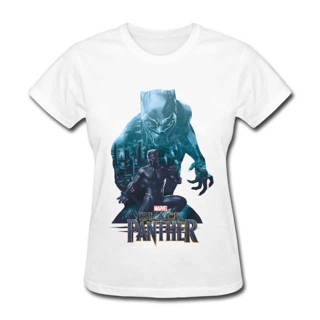 Black Panther T-Shirt Women High Quality Brands Clothing 90 s Marvel Anime  Tee Shirts For Women Custom Summer Tops Lady 081db5d0eb66