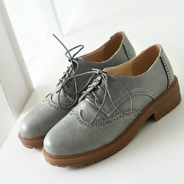 Platform Oxford Shoes No Laces