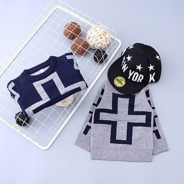 Baby Winter Girls Boys Sweaters Girls Knitted Sweater Thick sift Children Cross Sweaters For Baby Boys Clothes