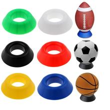 Round Ball Stand Holder Display Base for Rugby Soccer Football Basketball Softball Bowling Firm & Durable