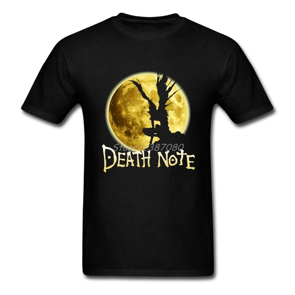New Style Anime Death Note T Shirt Kpop Brand Clothing Cotton Crewneck Plus Size Short Sleeve Custom  Men Shirts