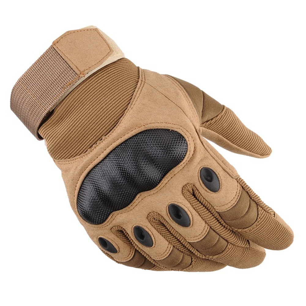 Hkqz New Touch Screen Black Hawk Tactics Full Finger Gloves Slip Wear Motorcycle Outdoor Army Fan Protective Gloves