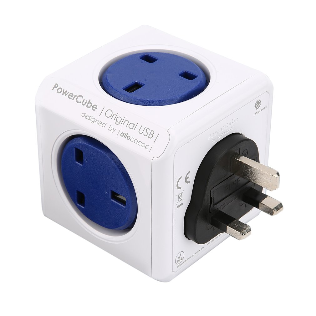 цена на USB PowerCube Socket Adapter Wall Mount Magic Cube UK Plug Multi-Outlets Power Strip Extension for Home Office Multi Switched