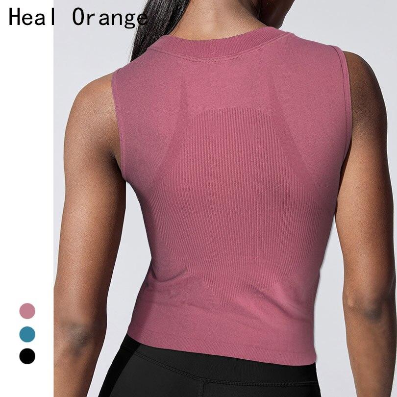 sem Costura Superior de Colheita Ginásio Camiseta Homme Esporte Fitness Superior Secagem Rápida Mulheres Workout Gym Womens Topos Camisa Mujer