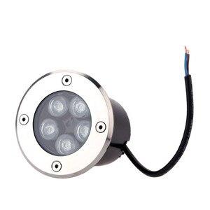 Image 4 - Darmowa wysyłka 10 sztuk LED reflektor 5 W zewnętrzne wodoodporne LED metra światła naziemne ciepły zimny biały ogród oświetlenie kwadratowe