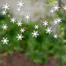 Christmas Paper Snowflake Garlands Decoration Winter Party Supplies Gift Birthday Wedding Home  Artificial Snow Decor