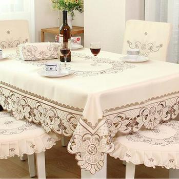 175X270CM/68X106  Tablecloth table dinner cover Mat lace flower embroidery increase Over  table cloth Europe home desk Dec