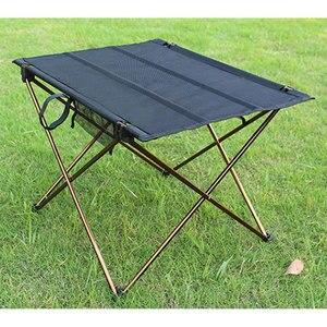 Image 5 - Складной стол для кемпинга, водонепроницаемый ультралегкий прочный складной столик из алюминиевого сплава для пляжа и пикника, барбекю