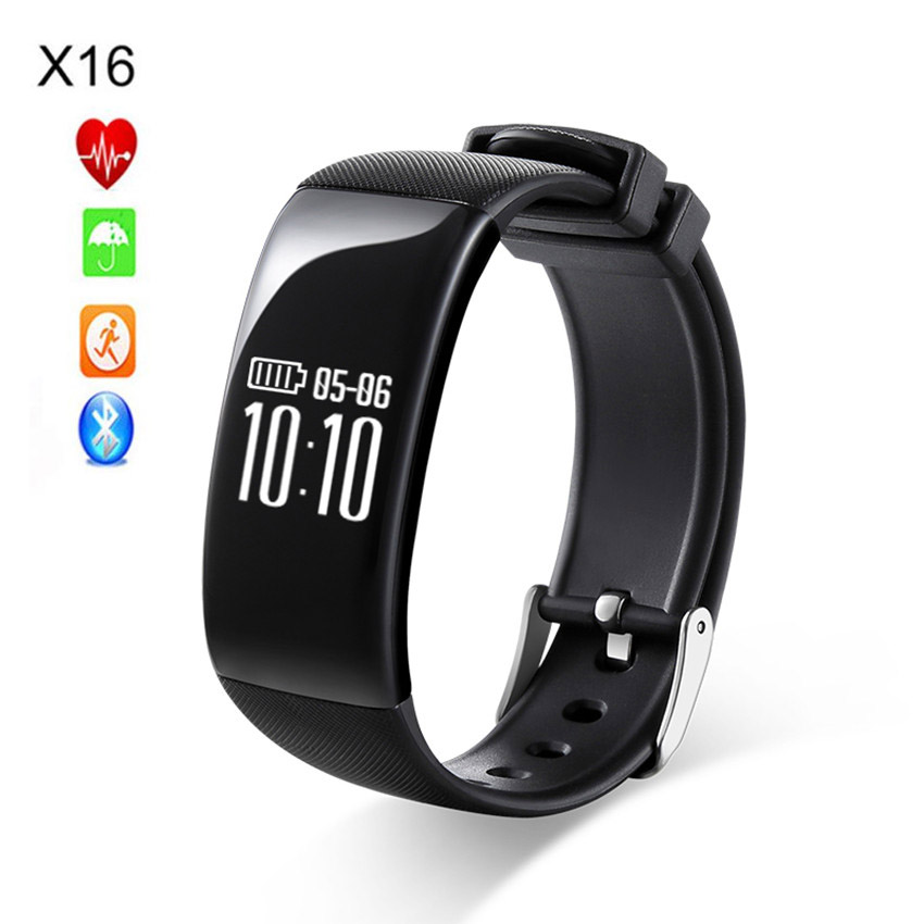 Hot Selling X16 Fitness Tracker Bluetooth Smart Bracelet Band Heart Rate Wristband Remote Camera for Phone