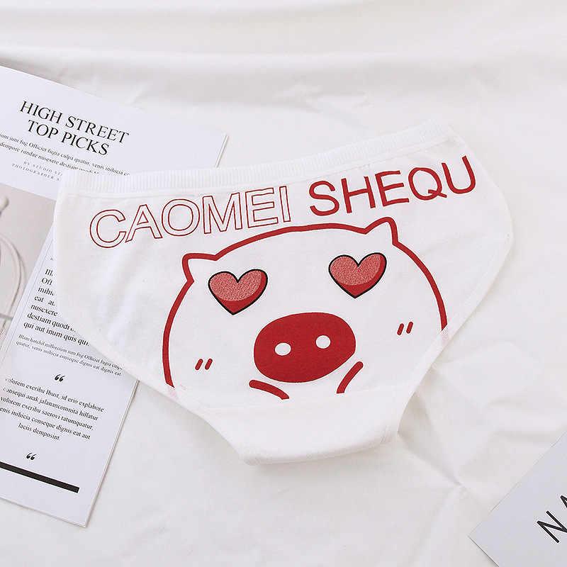 2019 المراهقات جديدة السروال خنزير مطبوعة يونغ فتاة سراويل ملخصات الكرتون الأحمر فتاة القطن سراويل ملابس داخلية للأطفال 8005