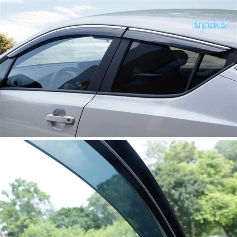 Lapetus Window Visors Awnings Wind Rain Shield Deflector Visor Guard Vent Kit Fit For Toyota C-HR CHR 2016 - 2021