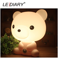 LEDIARY White Bear Cartoon Lamp Bear LED Desk Lamp E14 Replaceable Light Source Both Desk Lamp and Night Light Baby Bedside Lamp