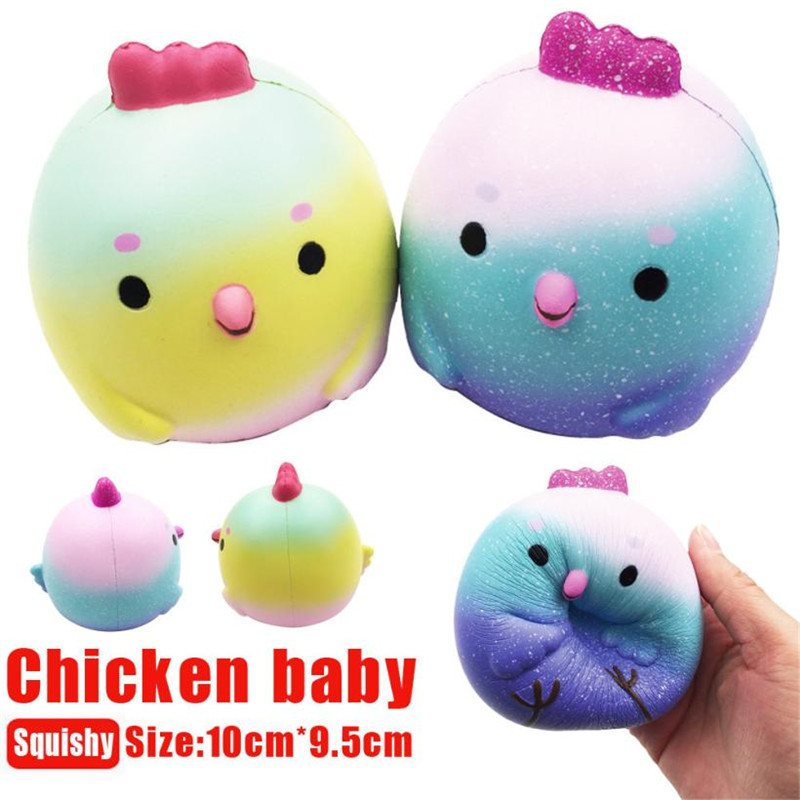Novelty 10CM BigSquishy Cute Chicken Baby Squeeze Slow Rising Cream Scented Decompression Cure Toy Relieves Anti-Stress,M30