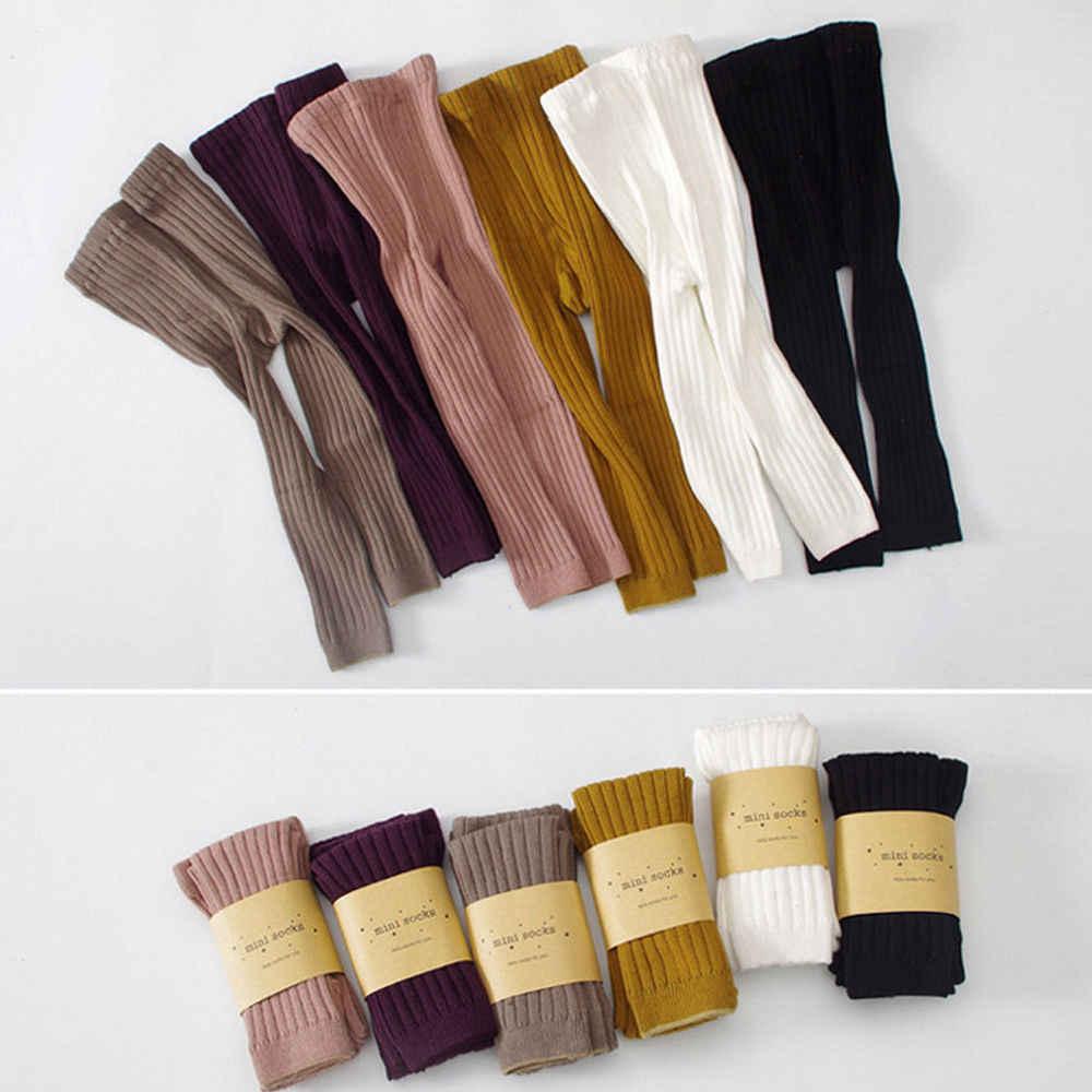 2018 новые брендовые теплые хлопковые колготки для новорожденных мальчиков и девочек, леггинсы, штаны, однотонные чулки, От 0 до 5 лет