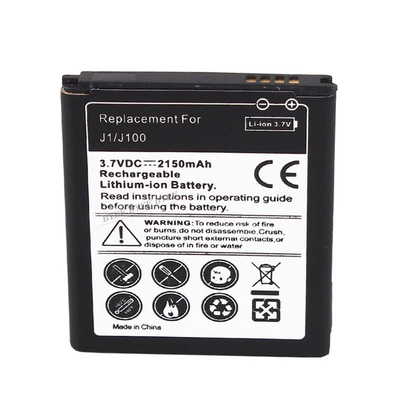 High Quality 3 7v 2150mah Replacement Battery for Samsung For Galaxy J1 J100 Lithium Ion Free
