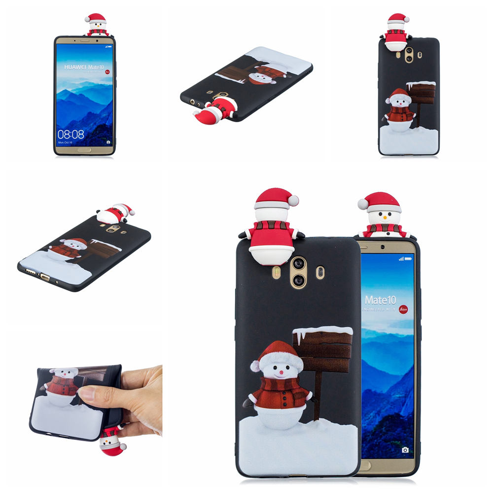 Merry Christmas Case For Huawei Mate 10 Lite Case 3D Shell Silicone Soft TPU Phone Back For Huawei Mate10 Pro Case Cover