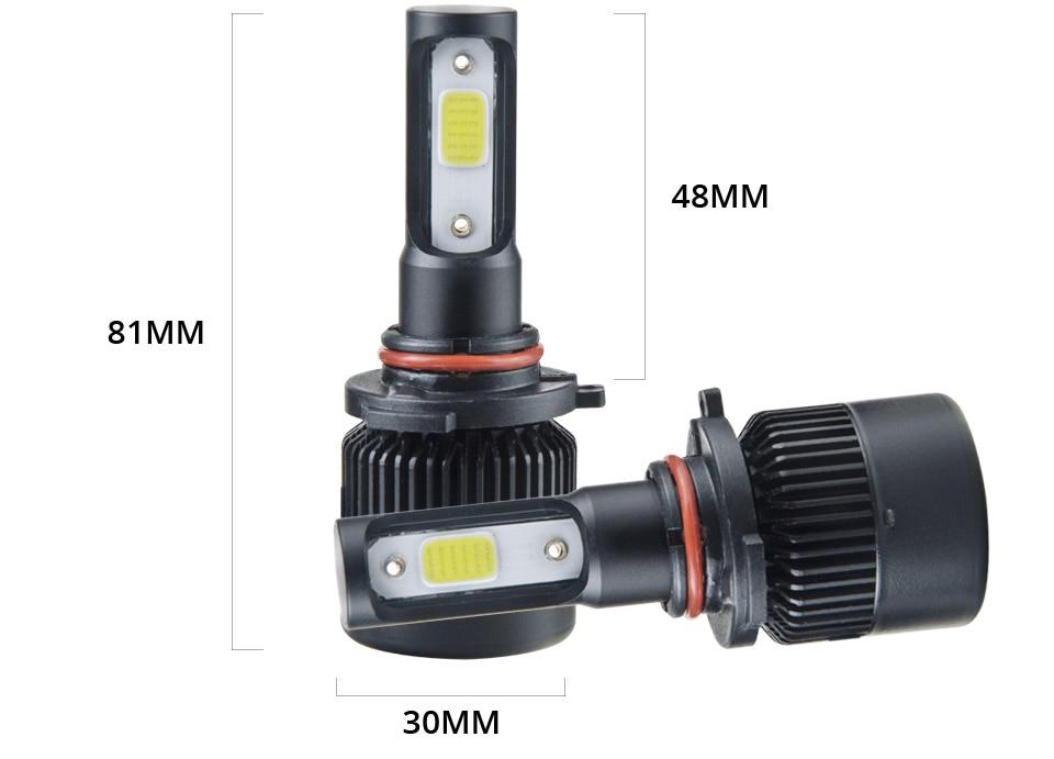 1 pcs LED H7 LED Car Headlight Bulb 8000LM LED H4 H7 H11 9005 9006 9012 4300k 6500k COB Hight Low beam MINI 12V 24V 72W 50000h (13)
