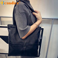 Naivety 2016 New Fashion PU Leather Women Shoulder Bags Solid Tote Purse Handbag JUN21 drop shipping