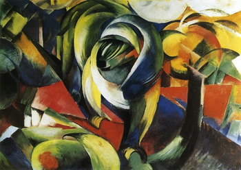 High quality Oil painting Canvas Reproductions The Mandrill 1913  By Franz Marc  hand painted