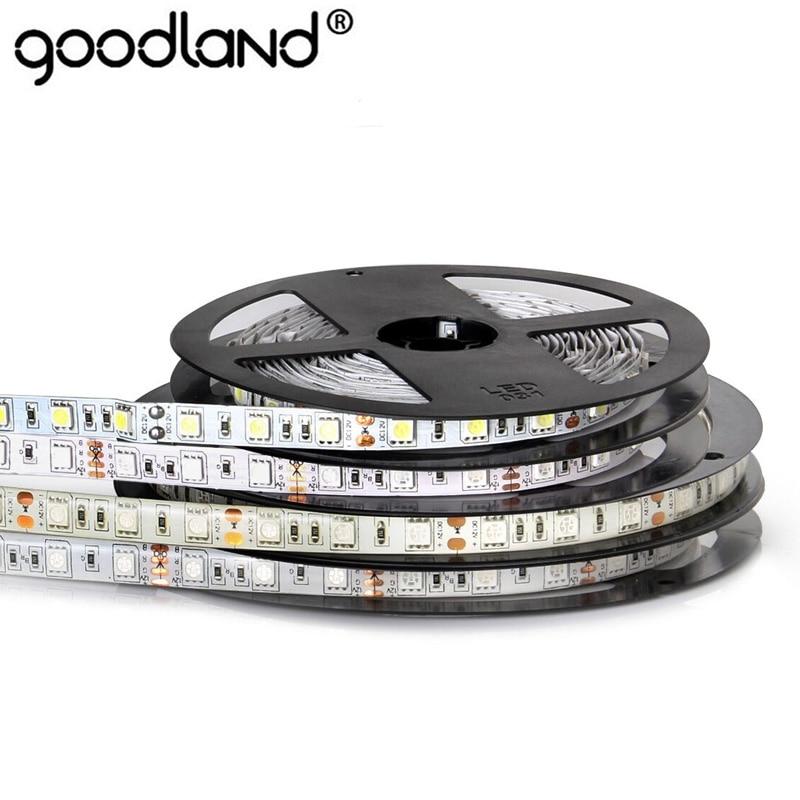 RGB LED Strip Light Flexible LED Ribbon SMD 5050 Diode Tape Waterproof DC12V 5M 300LEDs Ledstrip 12V For Home Decoration