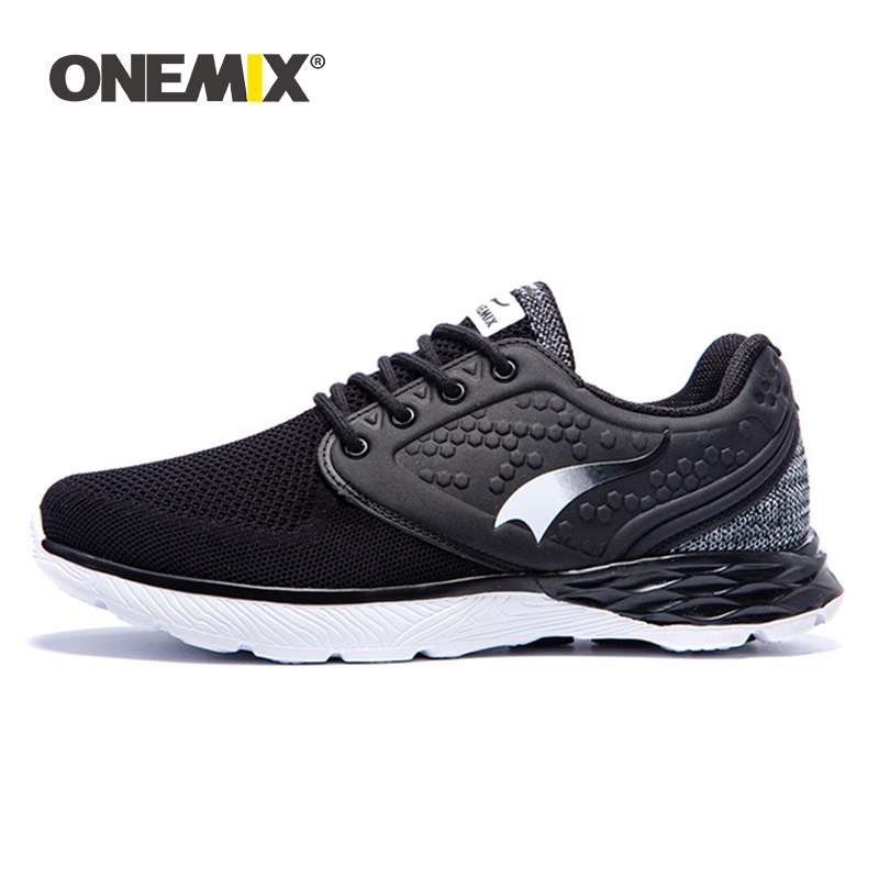 Onemix men s running shoes summer cool walking sneakers for men breathable mesh anti skid rubber