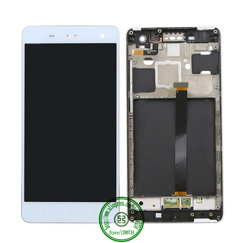WCDMA or TDSCDMA Top Quality Full LCD Display+Touch Screen Digitizer Assembly with Frame For Xiaomi 4 m4 mi4 Phone Replacement