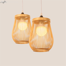 LFH Modern rural style solid Wooden creative Pendant Light Wood lampshade hanging Lamp Dinning Room decorate lighting fixture