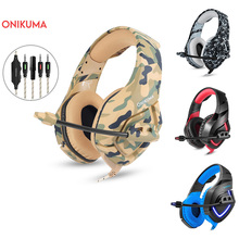 ONIKUMA K1 Camouflage Gaming Headset Dee Bass Game Headphones PS4 Earphones with Mic fro PC Moblie