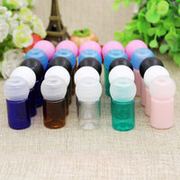 10 50 100pcs Mini DIY 5ml Plastic Refillable Packing Bottles With Ball Cove Cap Lid Empty