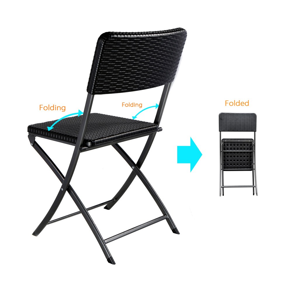 Patio Folding Chairs Us 55 4 Ikayaa De Stock 2pcs Patio Folding Chair Outdoor Dining Garden Party Beach Camping Stool Patio Outdoor Furniture 2pcs Set Chairs In Beach