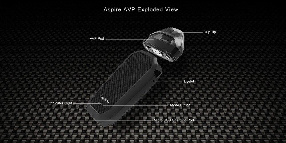 In Stock Aspire AVP Vape Kit 2ml Capacity Pod