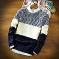 1 Autumn men's sweater o-neck striped sweater standard wool pullover