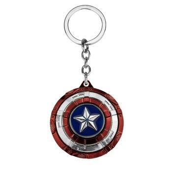LLavero de película Avengers guerra infinita Capitán América nuevo llavero de escudo llaveros para hombre chico llaveros de mujer regalo