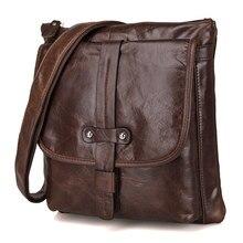 Men Business Small Ipad Shoulder Bags 2019 Man Brand Travel  Vintage  Bags Male Mini Genuine Leather Messenger Designer Male Bag