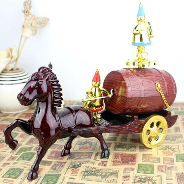 Brinquedo instrumento de carro barril relógio de música brinquedos para crianças presente de aniversário
