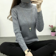 Autumn And Winter Knitting Pullover Sweater Women Turtleneck 6 Color Long Sleeve Sweater Women Sweaters And Pullovers Plus Size