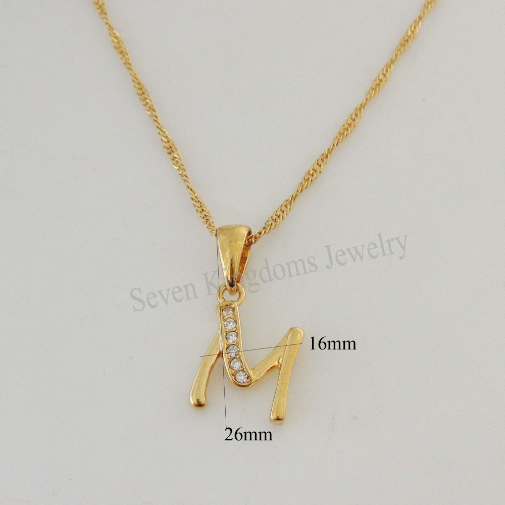 Compare Prices On Initial M Necklace Online ShoppingBuy Low - M