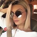 2017 Nuevo Ojo de Gato Mujeres gafas de Sol de Gran Tamaño de La Aviación Escudo Espejo Recubrimiento Gafas de Sol UV400 Sunnies Retro Frames Eyewear R529