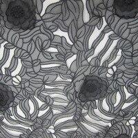 POp46 organza tule voile textiel geborduurde stof groothandel computer borduren katoen stof kleding textiel stoffen naaien