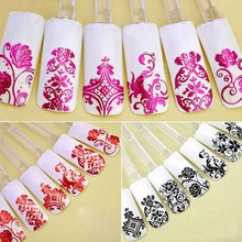 Nail art 3D Sticker Phototherapy Adhesive Sticker Carapace Pet Nail Sticker 108PCS 8 Color Optional Mixed wholesale nail sticker korea 3d nail sticker watermark applique phototherapy nail polish glue flower sticker white big sticker