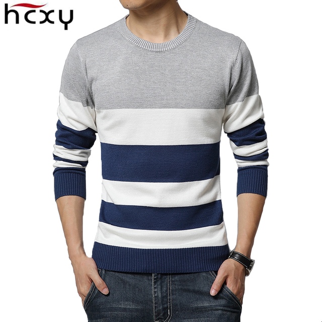 New Spring and Autumn Fashion Brand  Fine Casual Sweater Striped Slim Fit Knitting Mens Sweaters And Pullovers Men Pullover Men