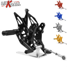 цена на CNC Aluminum Adjustable Motorcycle Rearset Rear Set Foot Pegs Pedal Footrest For Suzuki SV650 SV650S SV650X 2016 2017 2018 2019