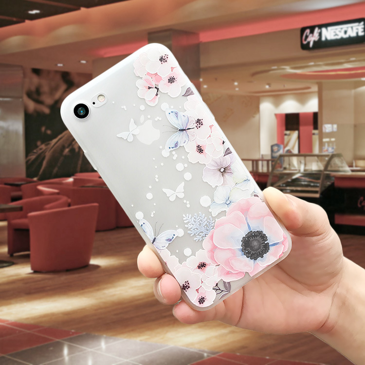 coque iphone 6 silicone apple rose