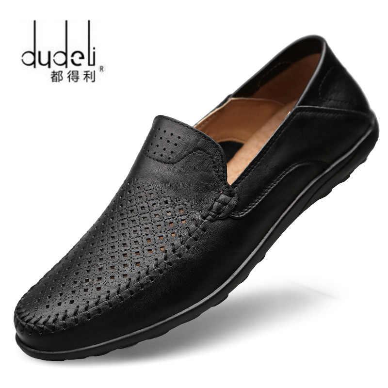 3d447360e16 DUDELI verano italiano zapatos de los hombres casuales de la marca de lujo  de transpirables para